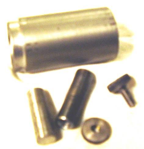 Детали из которых состоит металлический колесный блок.